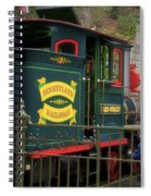 Disneyland Rr Oiling Green Engine 3 Spiral Notebook
