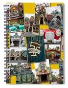 Disneyland Toontown Yellow Collage Spiral Notebook