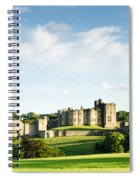 Distant Alnwick Castle Spiral Notebook
