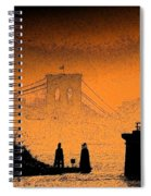 Distant Bridge Spiral Notebook
