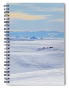 Distant View Of A Musk Ox And Snow Spiral Notebook