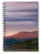 Distant Yukon Mountains Glowing In Sunset Light Spiral Notebook