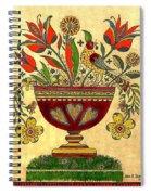 Distelfink With Flowers Spiral Notebook