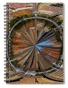 Distorted Lower Manhattan Spiral Notebook