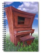 Distorted Upright Piano Spiral Notebook