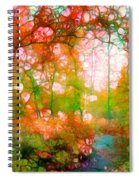 Distortions Of Autumn Spiral Notebook