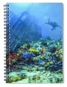 Diver At The Wreck Spiral Notebook