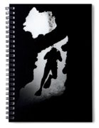 Diver Silhouette  Spiral Notebook