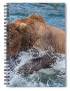 Diving For Salmon Spiral Notebook