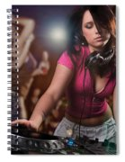 Dj Girl Spiral Notebook