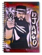 Django Blood Red Spiral Notebook
