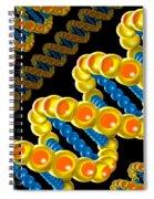 Dna Strand - Dna Strands Art - Genetics Genetic - Gene Genes - Conceptual - Square Format Image Spiral Notebook