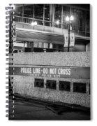 Do Not Cross Spiral Notebook