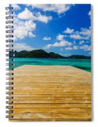 Dock And Beautiful Water Spiral Notebook