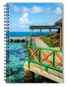 Dock And Tropical Water Spiral Notebook