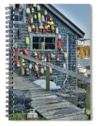 Dock House In Maine Spiral Notebook