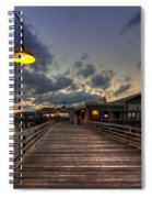 Dock Lights At Jekyll Island Spiral Notebook