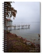 Dock On A Lake In Autumn Spiral Notebook