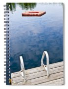 Dock On Calm Lake In Cottage Country Spiral Notebook
