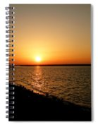Dock On The Bay Sunset Spiral Notebook