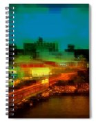 Dock On The East River - New York Spiral Notebook