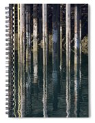 Dock Pilings Spiral Notebook