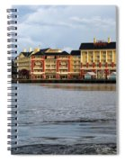 Docked At The Boardwalk Walt Disney World Spiral Notebook