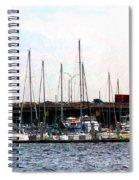 Docked Boats Norfolk Va Spiral Notebook