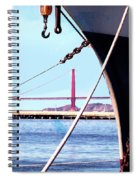 Docked In San Francisco Bay Spiral Notebook