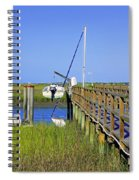 Docked On The Bay Spiral Notebook