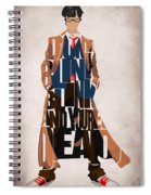Doctor Who Inspired Tenth Doctor's Typographic Artwork Spiral Notebook