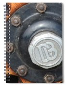 Dodge Brothers Hubcap And Spokes Spiral Notebook