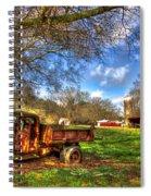 Dodge Dump Truck Farm Barn Scene Spiral Notebook