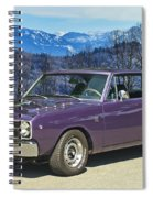 Dodge- Mountain Background Spiral Notebook