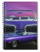 Dodge Rt Double Exposure Purple Sunset Spiral Notebook