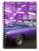Dodge Rt Purple Abstract Background Spiral Notebook
