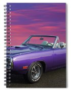 Dodge Rt Purple Sunset Spiral Notebook