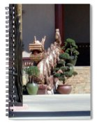 Dog At Temple Spiral Notebook