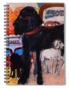 Dog At The Used Car Lot, Rex Gouache On Paper Spiral Notebook