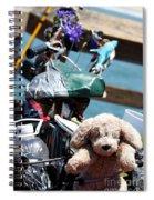 Dog Bike Spiral Notebook
