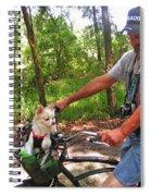 Dog In A Basket Spiral Notebook