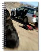 Dog In Front Of A Climbers Car Spiral Notebook