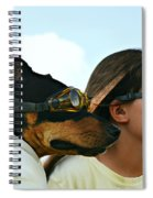 Dog Is My Co-pilot Spiral Notebook