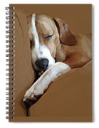 Dog - Mr. Oliver Snoozing Spiral Notebook