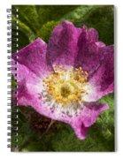Dog Rose Textured Spiral Notebook