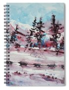 Dog Sled Spiral Notebook