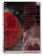 Dog Ten Commandments Spiral Notebook