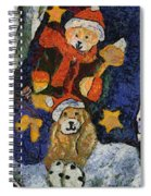 Doggie Xmas Stocking 03 Photo Art Spiral Notebook