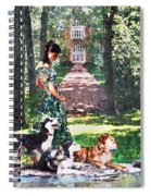 Dogs Lay At Her Feet Spiral Notebook