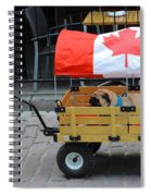 Dog's Life In Canada Spiral Notebook